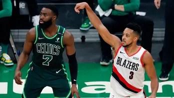 McCollum powers Trail Blazers past Celtics 129-119