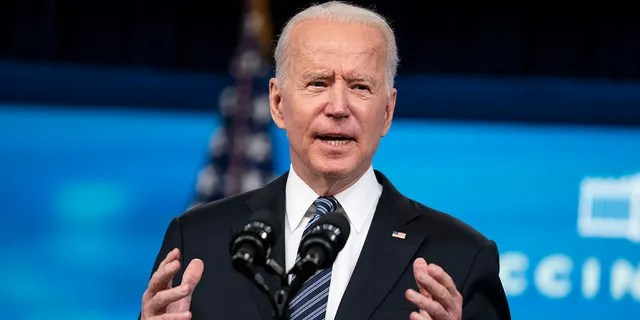 President Biden delivers remarks about COVID vaccinations in the South Court Auditorium at the White House, Wednesday, May 12, 2021, in Washington.
