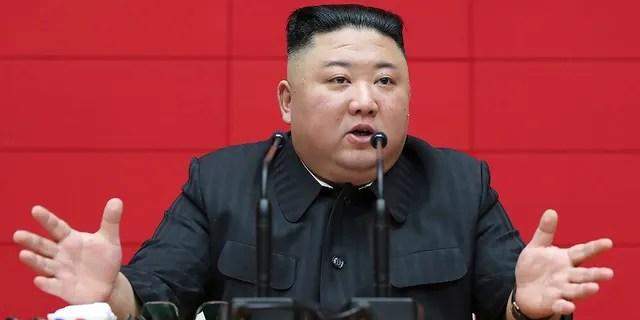 North Korean leader Kim Jong Un delivers a speech on March 4, 2021, in Pyongyang. (Korean Central News Agency/Korea News Service via AP, File)