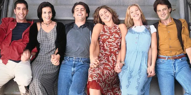 Pictured: (l-r) David Schwimmer as Ross Geller, Courteney Cox Arquette as Monica Geller, Matt LeBlanc as Joey Tribbiani, Jennifer Aniston as Rachel Green, Lisa Kudrow as Phoebe Buffay, Matthew Perry as Chandler Bing