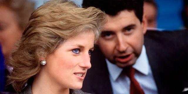 Princess Diana with her private secretary Patrick Jephson.
