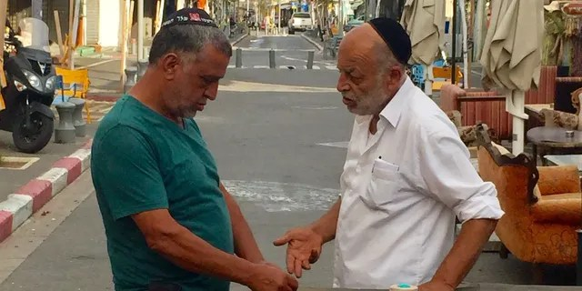 Businessmen in Jaffa.
