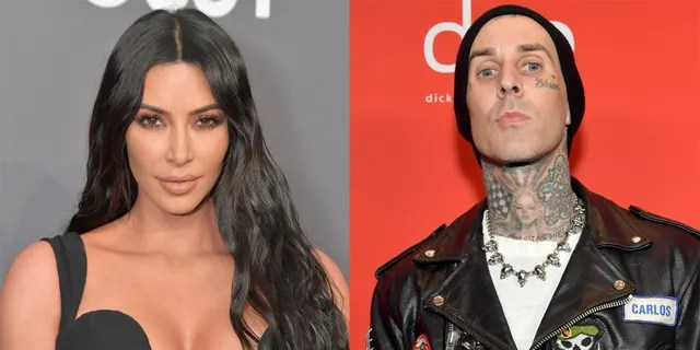 Kim Kardashian explained that rumors that she and Travis Barker hooked up are a 'false narrative.'