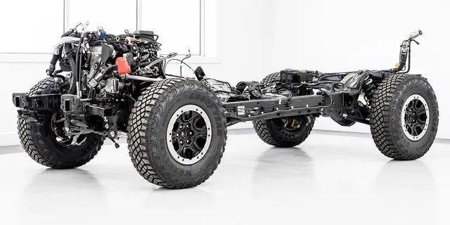 The Bronco's chassis is an evolution of the Ranger's.