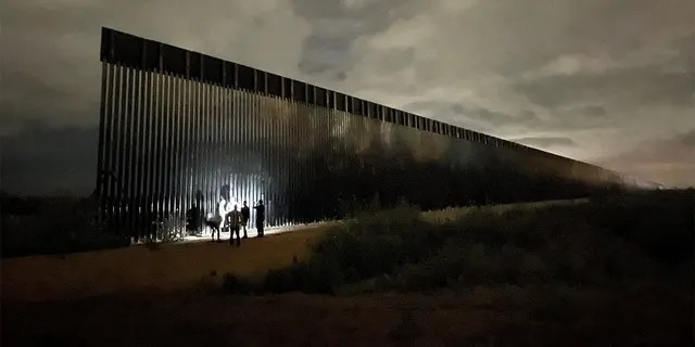 Picture of the unfinished border wall in Texas on June 29, 2021.