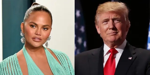 Chrissy Teigen made light of 'bullying' former President Donald Trump after apologizing for previously cyberbullying others.