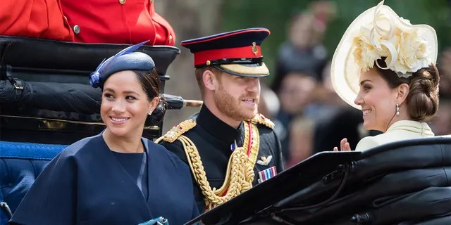 Kate Middleton (right) allegedly wanted to smooth things over with the Duke and Duchess of Sussex.