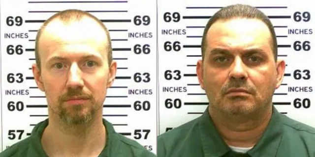 Convicted murderers David Sweat (L) 34, and Richard Matt, 48. They escaped from the maximum-security prison on June 6, 2015, using power tools and going through a manhole.
