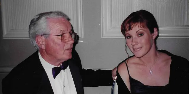 Elisa Donovan with her father.