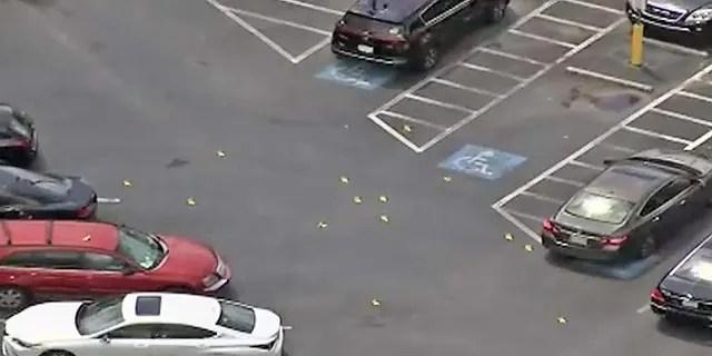 A shootout erupted outside the Southlake Mall in Morrow, Ga.,
