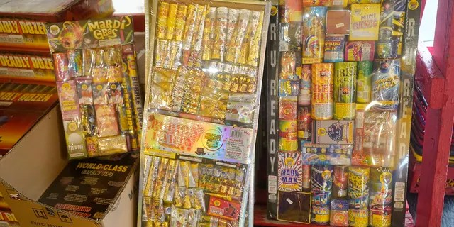 Fireworks are shown in a fireworks vendor's tent Thursday, June 24, 2021, in Sandy, Utah. Many Americans aching for normalcy as pandemic restrictions end are looking forward to traditional Fourth of July fireworks. But with a historic drought in the U.S. West and fears of another devastating wildfire season, officials are canceling displays, passing bans or begging for caution. (AP Photo/Rick Bowmer)