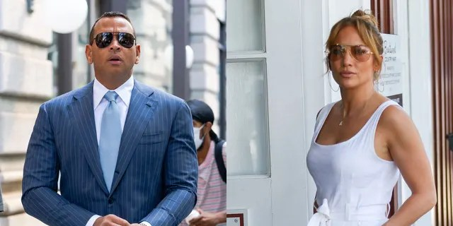 Alex Rodriguez and Jennifer Lopez both performed in the same stores in Italy, but at different times on Tuesday.  Rodriguez and Lopez broke off their engagement earlier this year.  'Let's Get Loud' singer has since moved on with actor Ben Affleck.
