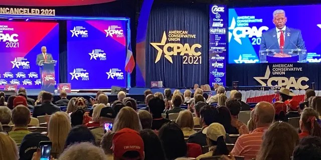 Former Rep. Allen West of Florida, the outgoing chair of the Texas GOP, speaks at CPAC Dallas, on July 11, 2021 in Dallas, Texas.
