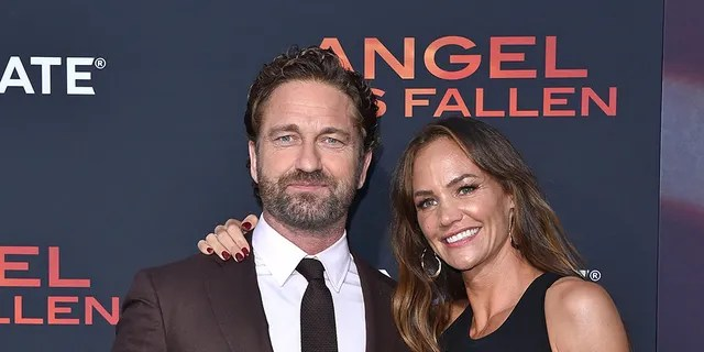 Gerard Butler and Morgan Brown attend the LA Premiere of Lionsgate's 'Angel Has Fallen' at Regency Village Theatre on August 20, 2019 in Westwood, California.
