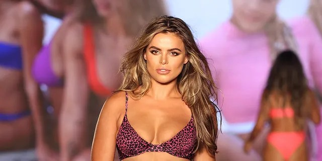 Brooks Nader walks for 2021 Sports Illustrated Swimsuit Runway Show during Paraiso Miami Beach at Mondrian South Beach on July 10, 2021 in Miami, Florida.