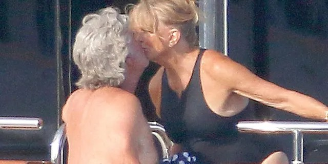 Kurt Russell and Goldie Hawn enjoy a sunny day in the South of France.