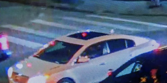 Newly obtained surveillance photo of suspect vehicle wanted in the shooting of a teen at 600 McCarty St. last night. Vehicle believed to be a white Buick driven by a black male suspect. (Houston Police Department Twitter)