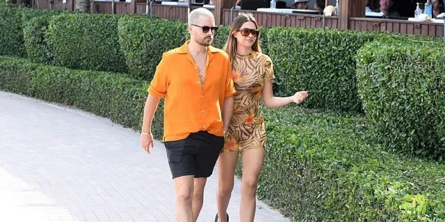 Scott Disick and Amelia Hamlin are seen in Miami back in April.