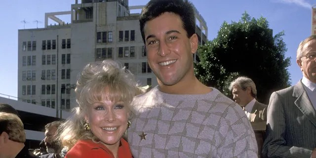 Barbara Eden and son Matthew Ansara attend the 'Hollywood Walk of Fame Ceremony Honoring Barbara Eden with a Star' on November 17, 1988, in Hollywood, California.