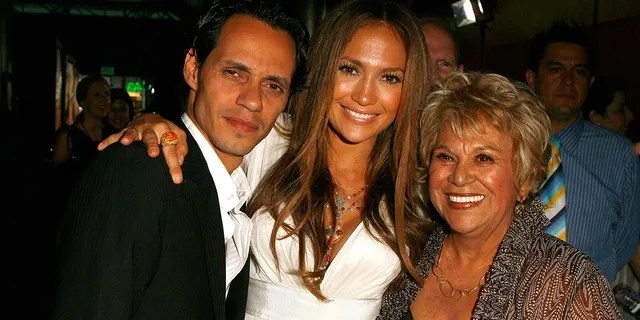 Jennifer Lopez's mom, Guadalupe Rodriguez, made a cameo in Ben Affleck's new ad for WynnBet. She is pictured here with Lopez's ex-husband, actor Marc Anthony, in 2007.