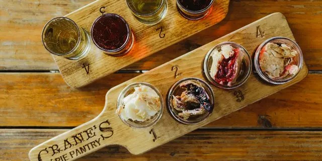 """Crane Orchards has 17 apple varieties and a dedicated """"Pie Pantry,"""" where visitors can dine."""