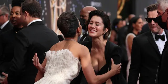 Mary Elizabeth Winstead arrives at the 73rd Emmy Awards at the JW Marriott on Sunday, Sept. 19, 2021 at L.A. LIVE in Los Angeles.