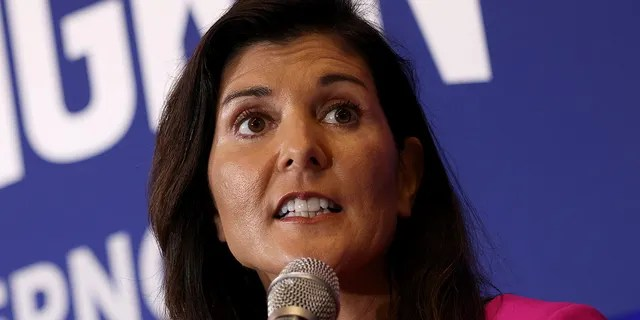 Former South Carolina Gov. Nikki Haley (R-SC) speaks during a campaign event for Virginia gubernatorial candidate Glenn Youngkin (L) (R-VA) July 14, 2021 in McLean, Virginia. (Photo by Win McNamee/Getty Images)