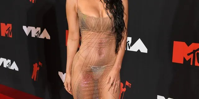 Megan Fox wore a see-through dress to the 2021 MTV Video Music Awards.