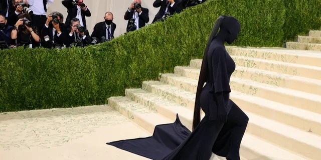Kim Kardashian attends The 2021 Met Gala Celebrating In America: A Lexicon Of Fashion at Metropolitan Museum of Art in New York City.