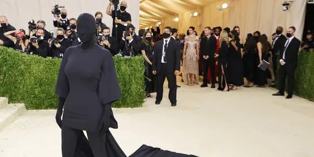Kim Kardashian wore a custom Balenciaga outfit.