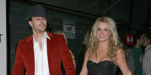 Kevin Federline and Britney Spears at the Rolling Stone/Verizon Wireless Pre-GRAMMY Concert with Kanye West.