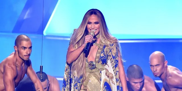 Jennifer Lopez performs onstage during the 2018 MTV Video Music Awards at Radio City Music Hall on August 20, 2018 in New York City.