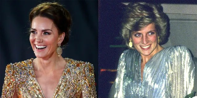 Kate Middleton and Princess Diana's dress featured similar shaping, necklines, colors and more.