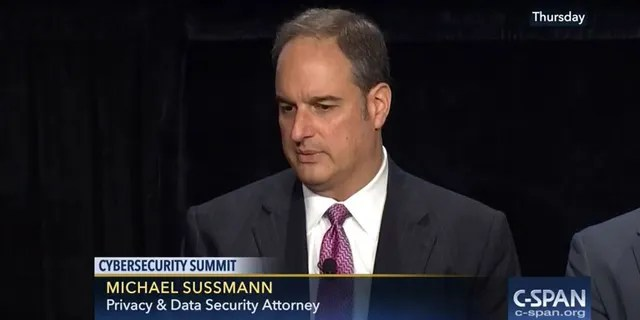 Michael Sussmann attends the Washington Post's sixth annual cybersecurity summit on October 6, 2016.