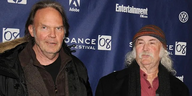 David Crosby, right, called former bandmate Neil Young the most 'selfish' person he's ever met. (Photo by Bryan Bedder/Getty Images)