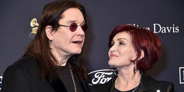 Sharon Osbourne (R) said her husband's Parkinson's disease is 'under control.'
