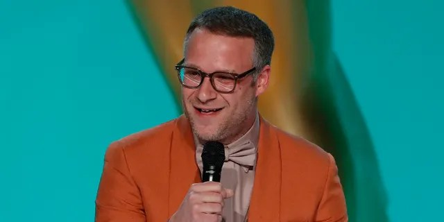 Seth Rogen joked about the lack of COVID-19 safety protocols at the 2021 Emmy Awards.
