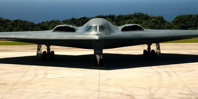 A B-2 Spirit Stealth Bomber from the 393rd Expeditionary Bomb Squadron, Whiteman Air Force Base, MO.