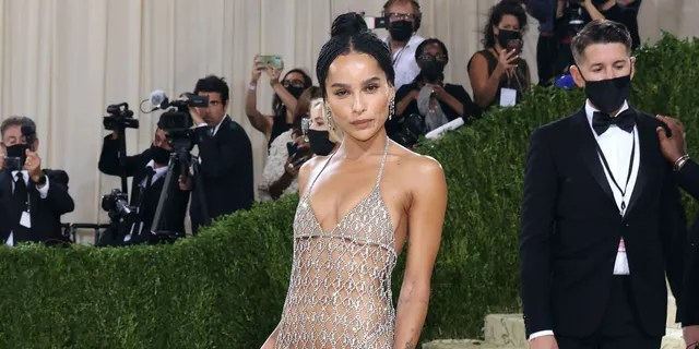 Zoe Kravitz attends the 2021 Met Gala benefit 'In America: A Lexicon of Fashion' at Metropolitan Museum of Art on September 13, 2021 in New York City.