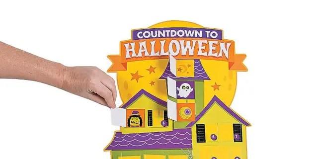 The Oriental Trading Jumbo Halloween Countdown Calendars retail for $12.29.