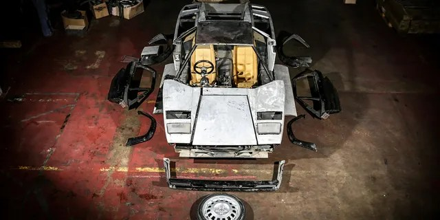 The 1982 Lamborghini Countach was disassembled in 2008 in preparation for a restoration project that never commenced.