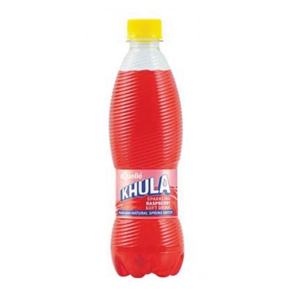 KHULA RASBERRY SOFT DRINK 500ML