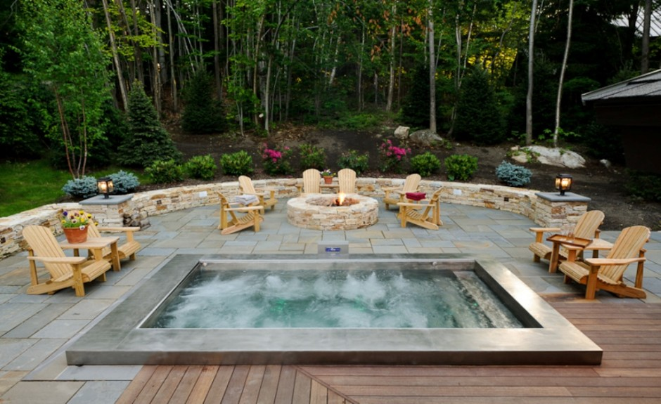 20 Hot Tub Designs that are Heaven on Earth on Outdoor Living Spa id=26927