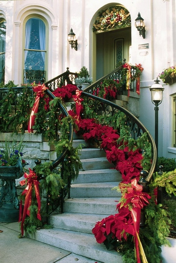 20 Elegant Outdoor Christmas Decorations Perfect For The ... on Patio Decorating Ideas With Lights  id=46751