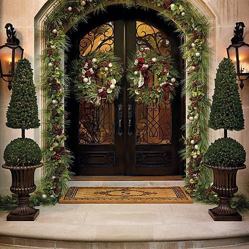 20 Elegant Outdoor Christmas Decorations Perfect For The ... on Patio Decorating Ideas With Lights  id=79169