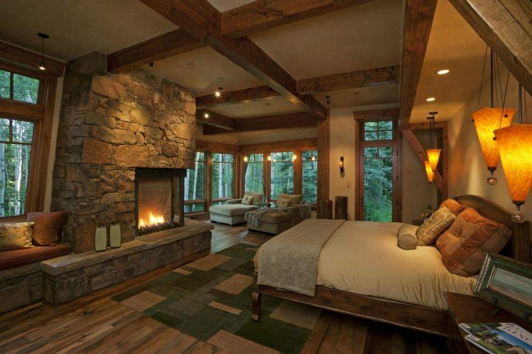 Lighting is one of the key points in cozy small bedroom tips. 20 Beautiful Bedrooms With Stone Fireplace Designs