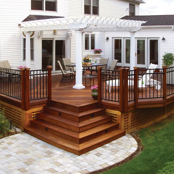 20 Beautiful Wooden Deck Ideas For Your Home on Backyard Wood Patio Ideas id=51587