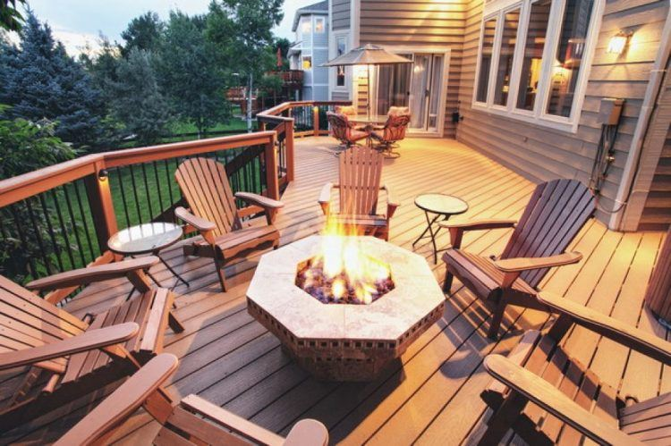 20 Beautiful Wooden Deck Ideas For Your Home on Backyard Wood Patio Ideas id=42354