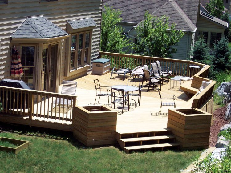 20 Beautiful Wooden Deck Ideas For Your Home on Backyard Wood Patio Ideas id=26448