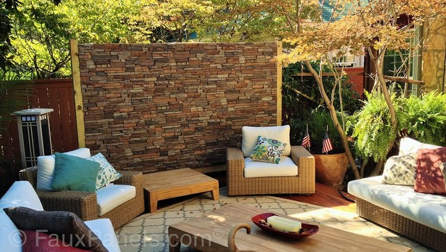 10 Of The Best Outdoor Accent Wall Ideas on Garden Patio Wall Ideas id=86805